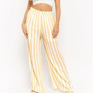 Pants - PANTS STRIPED PALAZZO PANTS womens women